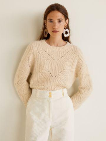 סוודר פרוותי בטקסטורות משתנות
