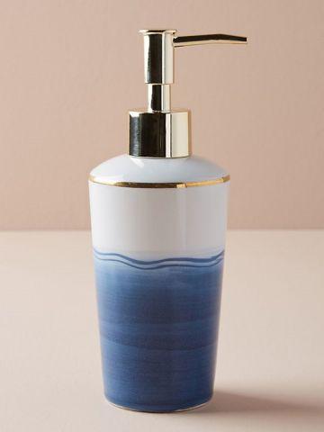 דיספנסר חרסינה לסבון נוזלי בעבודת יד