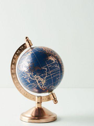 גלובוס דקורטיבי עם עיטורי זהב / קטן