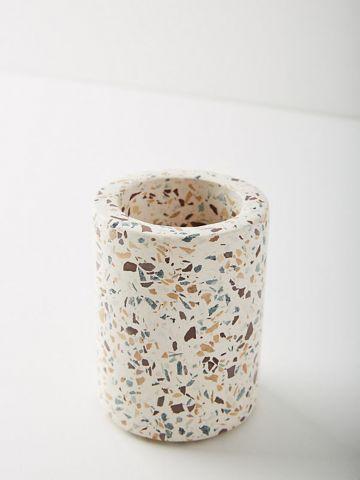 כוס שיש למברשות שיניים TERRAZZO