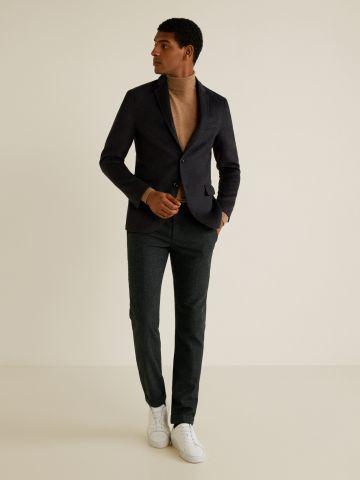מכנסיים מחויטים צמר בדוגמת משבצות