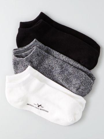 מארז 3 זוגות גרביים נמוכים / גברים