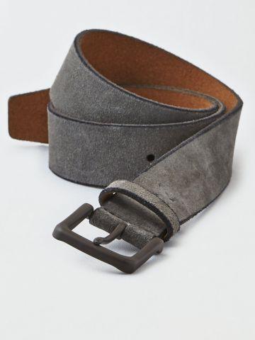 חגורת זמש עם חריטת לוגו / גברים