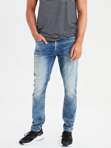 מכנסי ג'ינס סלים אסיד ווש Flex Slim Straight