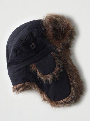 כובע ציידים עם שוליים פרוותיים / גברים