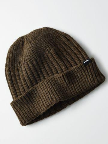 כובע גרב בסריגה משולבת / גברים
