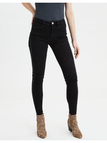 ג'ינס סקיני בעיטור פנינים