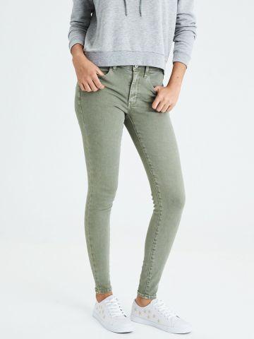 ג'ינס סקיני סטרץ' אסיד-ווש High Rise Jegging