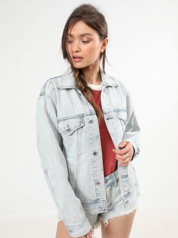 ג'קט ג'ינס עם ווש בהיר