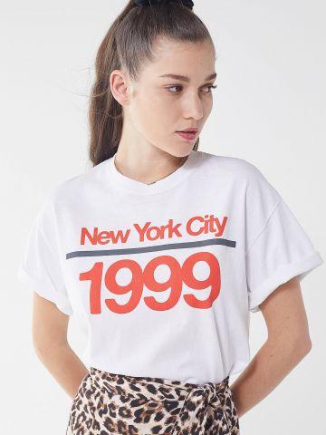 טי שירט עם הדפס ניו יורק UO