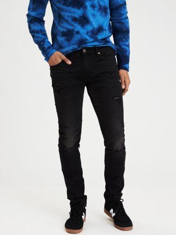 ג'ינס סקיני סלים עם קרעים Slim