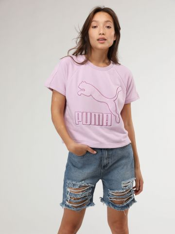 ג'ינס קצר מולטי ריפ