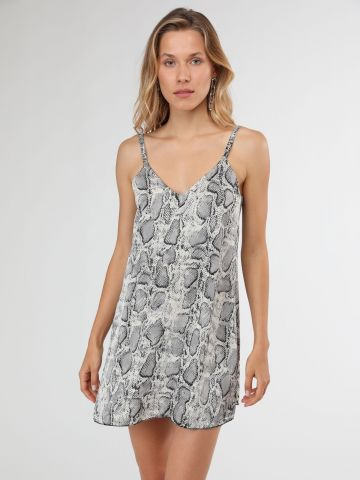 שמלת מיני בייבי דול בהדפס נחש