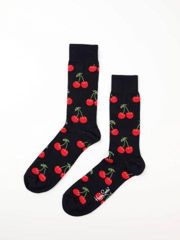 גרביים בהדפס דובדבנים / נשים