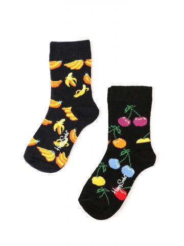 מארז 2 זוגות גרביים בהדפס פירות / בנות