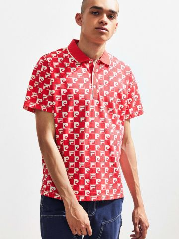 חולצת פולו מולטי לוגו Fila + Pierre Cardin