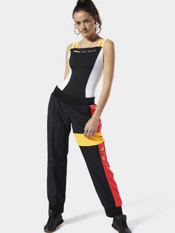 מכנסי טראק ניילון קולור בלוק לוגו Reebok X Gigi Hadid