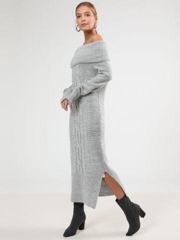 שמלת סוודר מידי אוף שולדרס