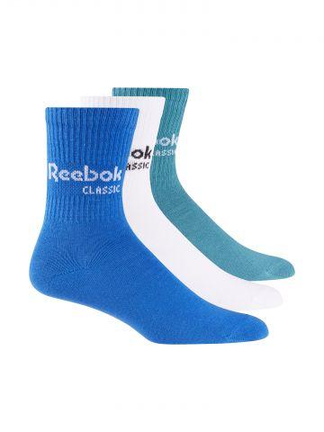 מארז 3 זוגות גרביים גבוהים עם לוגו / יוניסקס