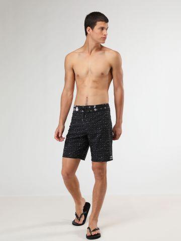 מכנסי בגד ים בהדפס משולשים קטנים טאי דאי