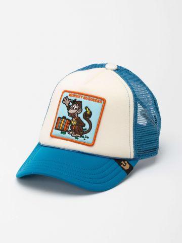 כובע מצחייה עם פאץ' קוף / ילדים