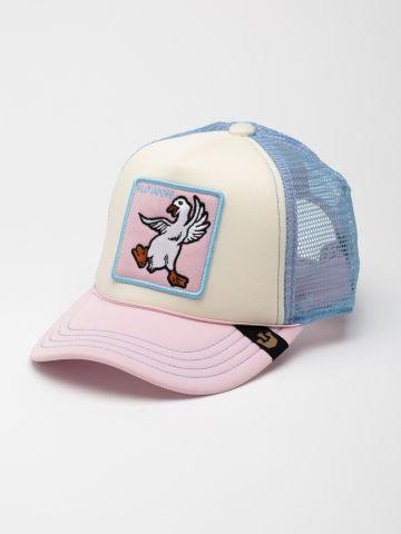 כובע מצחייה עם פאץ' אווז / בנות