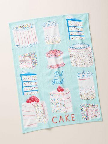 מגבת מטבח But First Cake