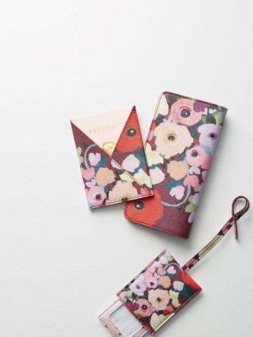 תג למזוודה בהדפס פרחים KT Smail