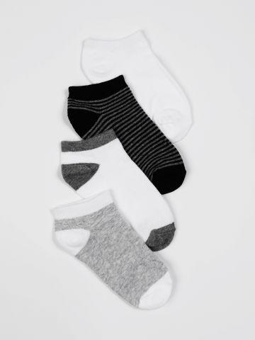 מארז 4 זוגות גרביים בהדפסים שונים / בנים