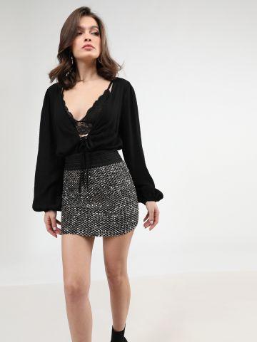 חצאית מיני פאייטים