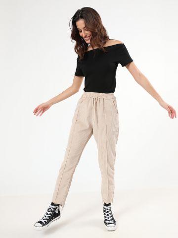 מכנסי קורדורוי עם כיסים