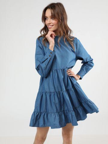 שמלת מיני קומות בשילוב מלמלה