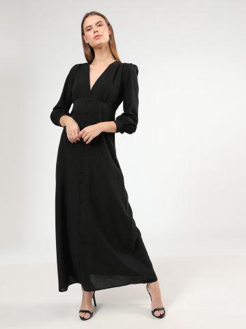 שמלת מקסי עם כפתורים