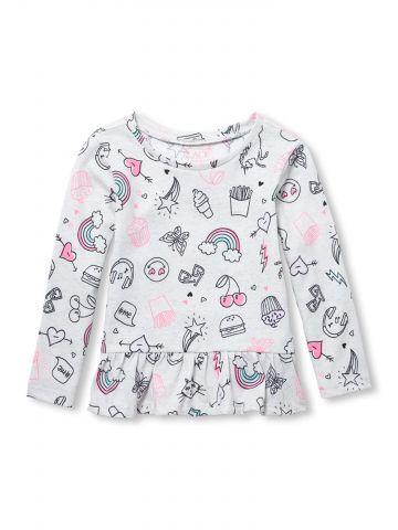 חולצה עם הדפס /בייבי בנות