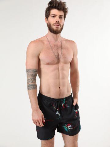 מכנסי בגד ים בהדפס פרחים