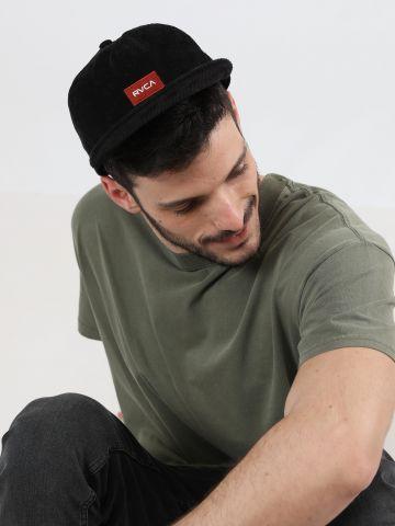 כובע מצחייה קורדורוי לוגו / גברים