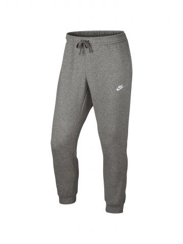 מכנסי טרנינג מלנז' לוגו עם מנג'טים בסיומות