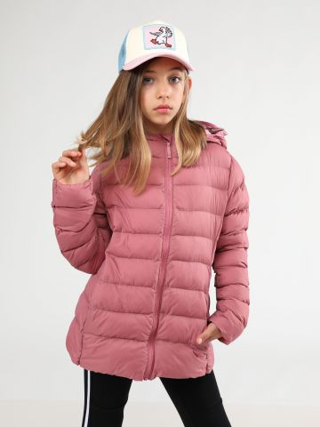 מעיל קווילט קפוצ'ון Ultra Light Warm Parka / בנות