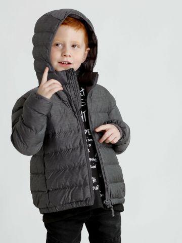 מעיל עם כובע קפוצ'ון Light Warm Padded Parka