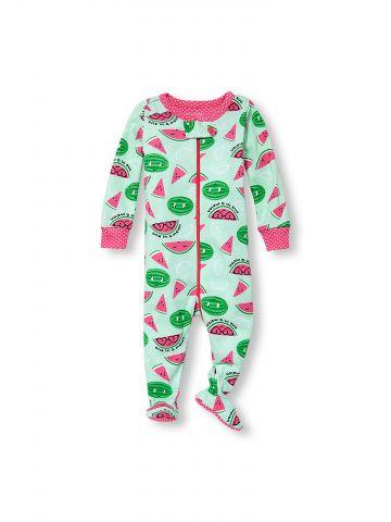 אוברול פיג'מה בהדפס אבטיחים One In A Melon / בייבי בנות