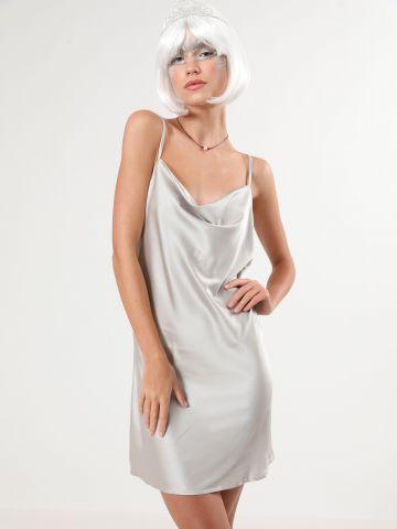 שמלת סאטן מיני Moon Girl / תחפושות לפורים