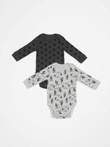 מארז 2 בגדי גוף בהדפס מיקי מאוס / בייבי