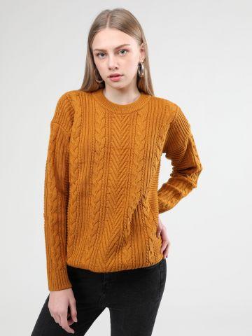 סוודר צמר לונגליין