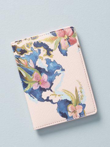 כיסוי לדרכון בהדפס פרחים Whitney Winkler