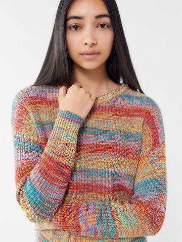 סוודר בדוגמת פסים מולטי קולור UO