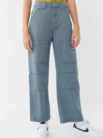 מכנסיים בגזרה גבוהה עם תפרים בולטים BDG