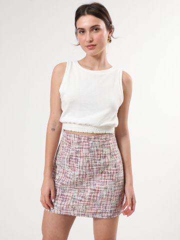 חצאית טוויד מיני