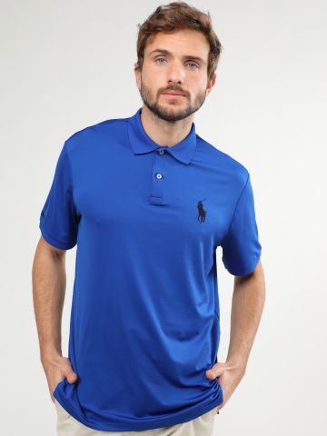 חולצת פולו לייקרה עם לוגו