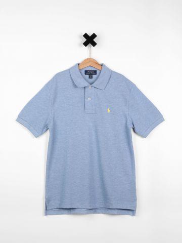 חולצת פולו עם רקמת לוגו / בנים