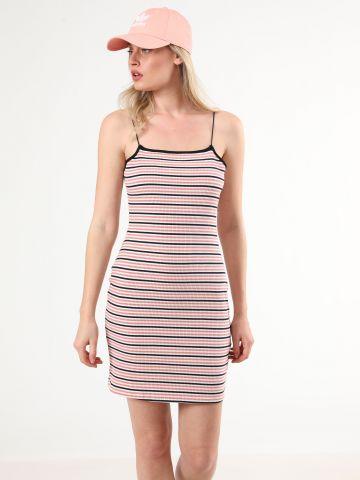 שמלת ריב מיני בהדפס פסים